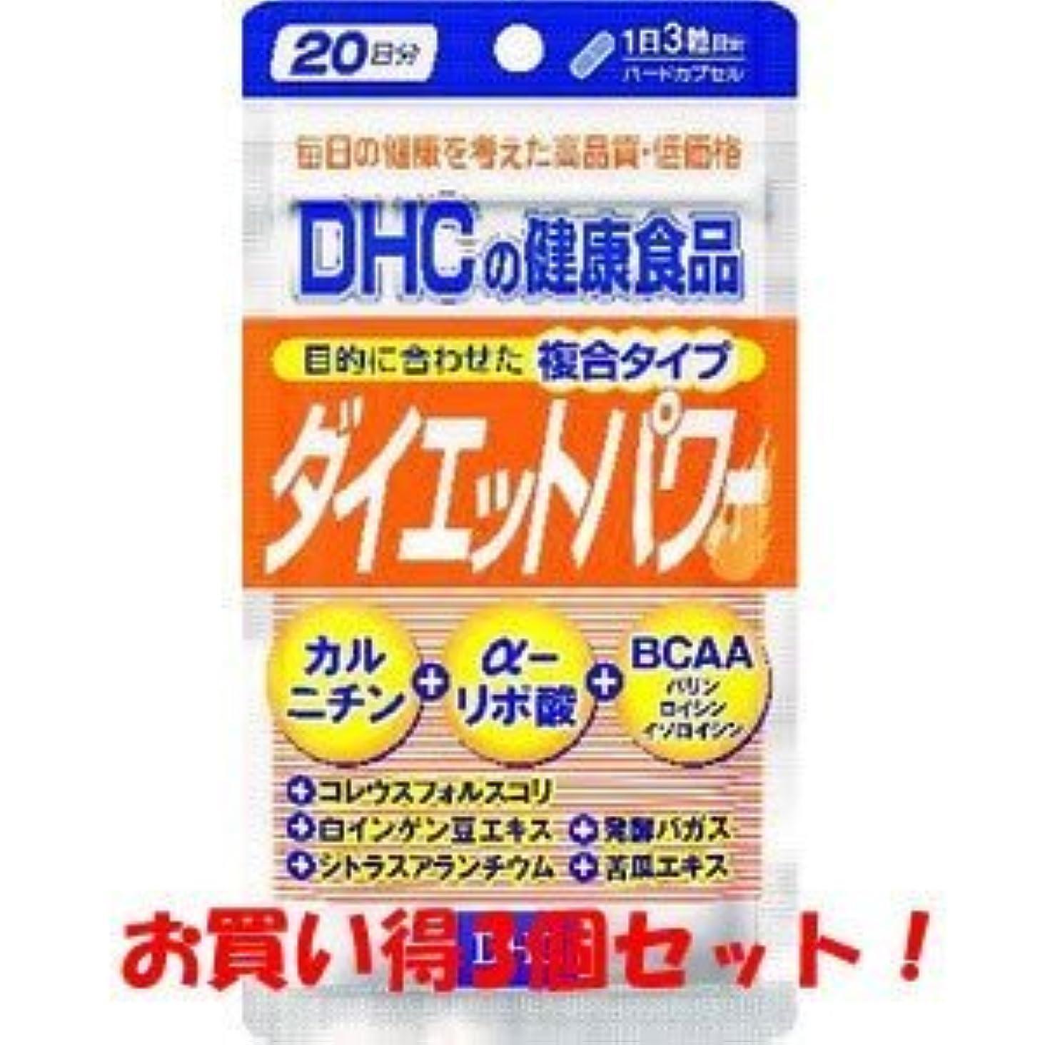 健康的主張マイクロプロセッサDHC ダイエットパワー20日分 60粒(お買い得3個セット)