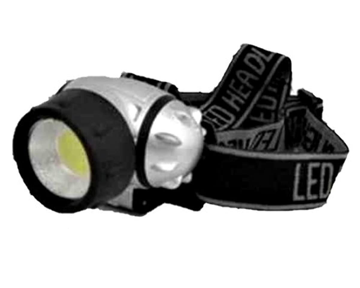 まともな理容師認めるCOB-LED ヘッドライト シルバー NO.CLH-3【まとめ買い6個セット】