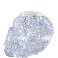 (White) - Crystal Puzzle, Oldeagle 3D Crystal Puzzle Skull Clear Model DIY Gadget Building Blocks Toy Gift (White)