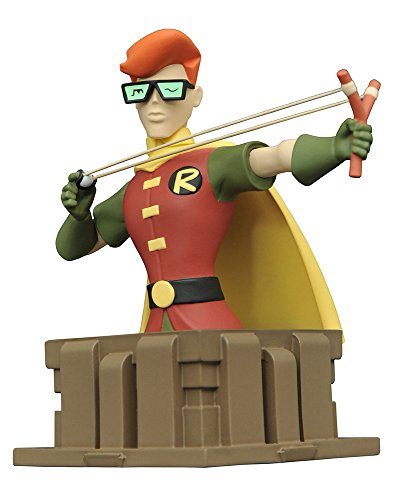 DC미니 바스트 배트맨 애니메이션 이 텟토 로빈(레전드・오브・다크 나이트판) 높이 약13센티 레진제 도장필 완성품 피규어-- (2017-03-31)