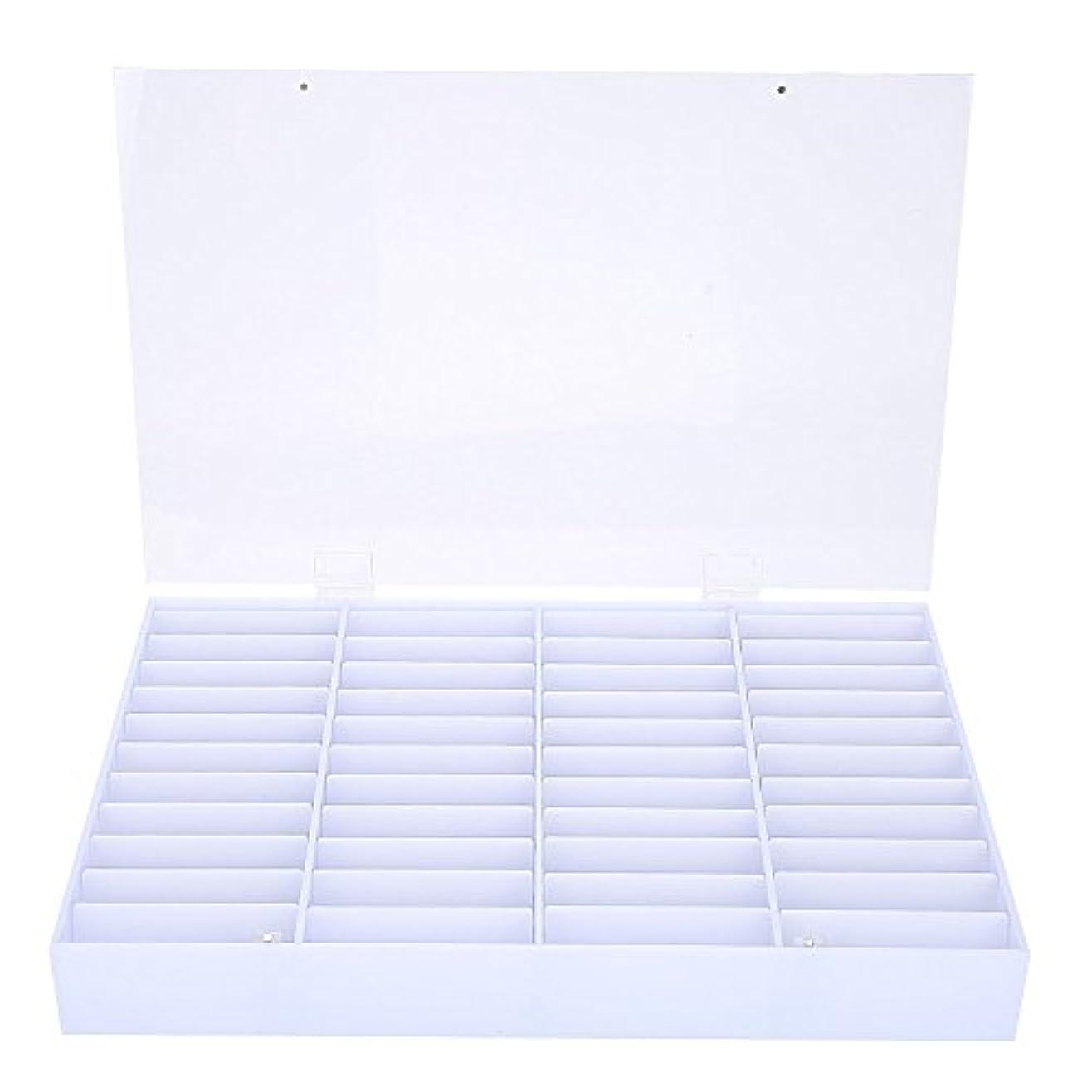 ほこりっぽい段階ショップネイル収納ボックス、空のネイルのヒント収納ボックスクリアネイルアート装飾コンテナフェイクネイルディスプレイケース、空の収納ボックスネイルアート