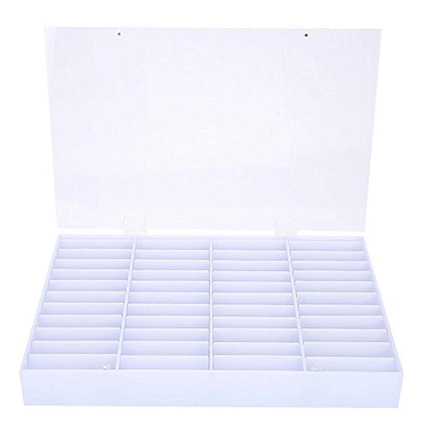 明快気性ハンカチネイル収納ボックス、空のネイルのヒント収納ボックスクリアネイルアート装飾コンテナフェイクネイルディスプレイケース、空の収納ボックスネイルアート