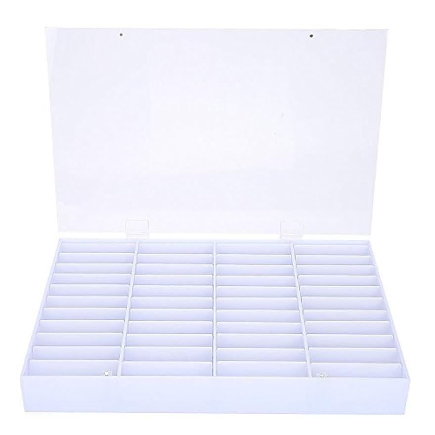 アラブサラボ成り立つ違反するネイル収納ボックス、空のネイルのヒント収納ボックスクリアネイルアート装飾コンテナフェイクネイルディスプレイケース、空の収納ボックスネイルアート