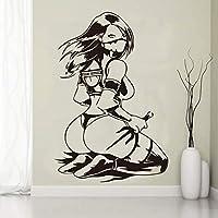 Lixiaoer クールな女性ウォールステッカー用家の装飾リビングルーム女の子の寝室の装飾アクセサリー壁用ステッカー取り外し可能なビニールArt30×45センチ