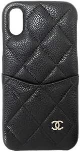 [シャネル] CHANEL iPhoneケース A83565 スマホケース スマホカバー iPhone X キャビアスキン キルティング レザー (ブラック(C3906)) [並行輸入品]