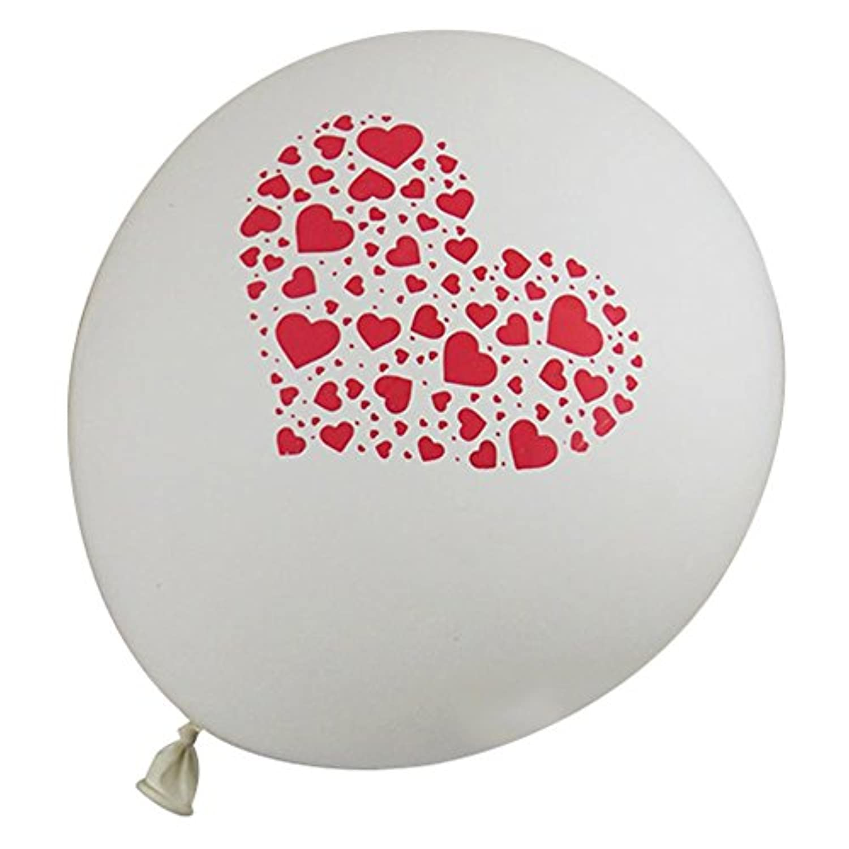 SODIAL(R) 25Xラブ気球 パーティー ウェディング装飾 ラテックス 白