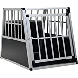vidaXL Dog Cage with Single Door Aluminium Dog Travel Transportation Kennel Pet Travel Crate Playpen Suitable for Indoor and Truck