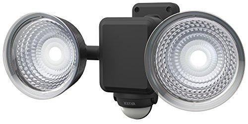 ライテックス 1.3W×2灯 フリーアーム式 LED乾電池センサーライト LED-225