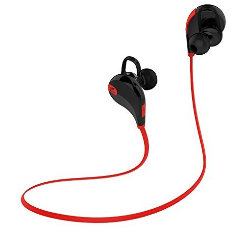 〔6色展開〕SoundPEATS サウンドピーツ Bluetooth イヤホン 高音質 AAC(iPhone,iPad,iPod)コーデック対応 低遅延 CSR社チップ採用 IPX4防水 IP4X防塵 スポーツイヤホン マイク付き ハンズフリー通話 CVC6.0ノイズキャンセリング 音漏れ防止機能 ブルートゥース イヤホン ワイヤレス イヤホン Bluetooth ヘッドホン[メーカー直販 / 1年間保証]QY7 ブラック/レッド