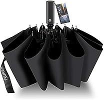 折りたたみ傘 自動開閉 頑丈な12本骨 メンズ 台風対応 梅雨対策 大きい 超撥水 おりたたみ傘 高強度グラスファイバー ビッグサイズ 晴雨兼用 収納ポーチ付き