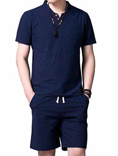 (ヴォンヴァーグ) ventvague カプリシャツ 半袖 ハーフパンツ 半ズボン 上下セット セットアップ トップス ...