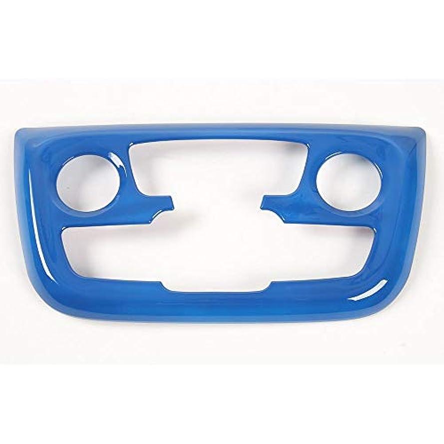 レーザに変わる貫通Jicorzo - For Jeep Compass AT 2017+ Air Condition Button Switch Knob Control Panel Cover Trim Interior Decor Frame Car Styling Accessories [Blue]