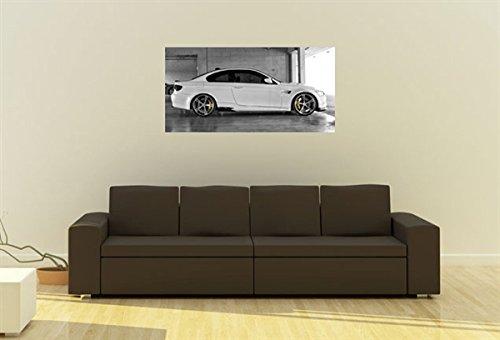 BMW e92m3ACシュニッツァー右側ホワイトワイドアスペクトHDポスタースポーツ車印刷 48x24 Inches BMW-AM-ACSM3-RS-W-244824
