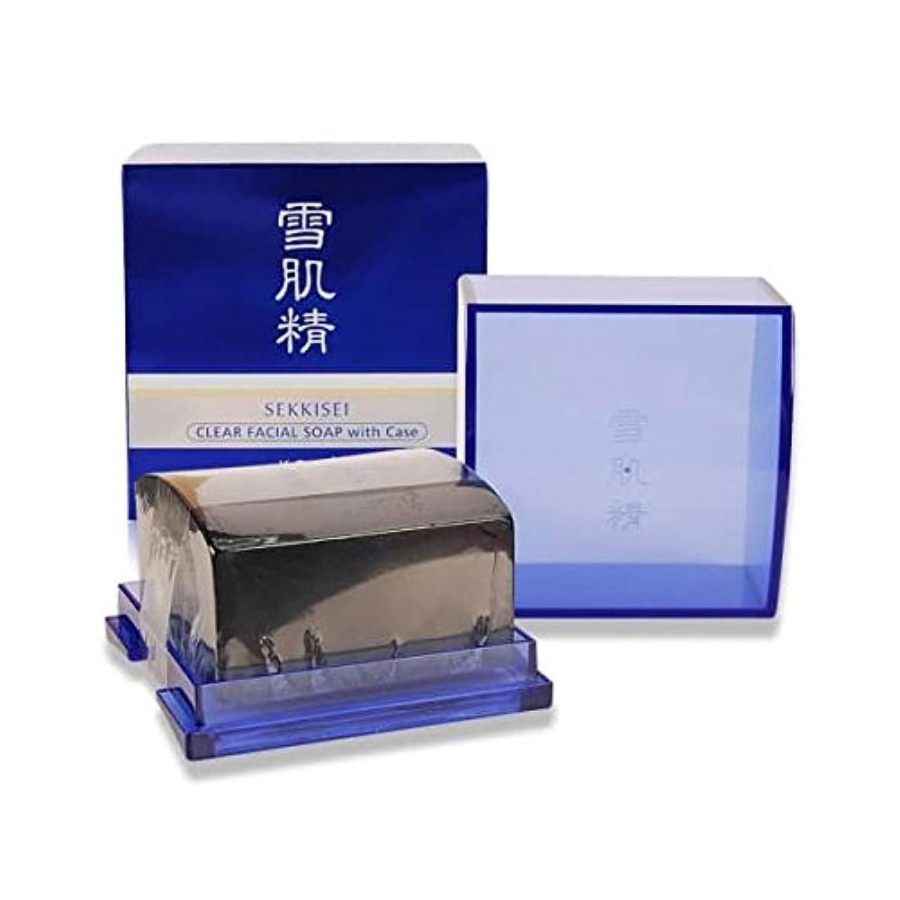 取得するゴミ箱ラフ睡眠コーセー 雪肌精 クリア フェイシャル ソープ (ケース付) 120g