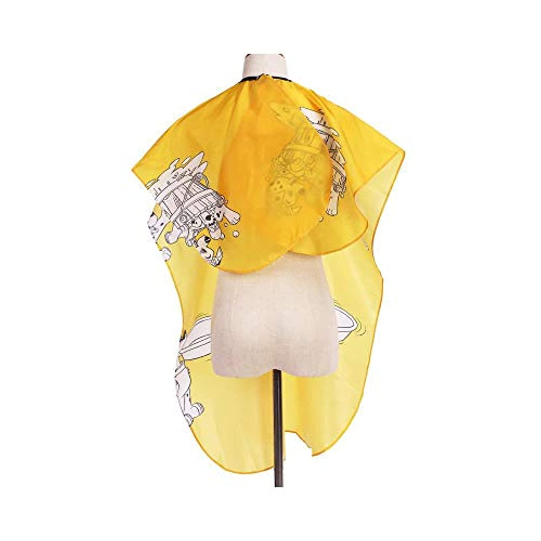 ピアくるみワードローブユニセックスのプロの美容師は、カットと色の黄色の全長ケープをスタイリングする髪のためのガウンを防水します ヘアケア