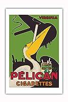 ペリカン タバコ - バージニアタバコ - ビンテージな広告ポスター によって作成された チャールズ・Yray c.1925 - プレミアム290gsmジークレーアートプリント - 61cm x 91cm