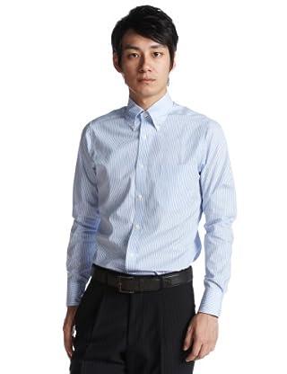 Candy Stripe Buttondown Shirt 5594: Saxe