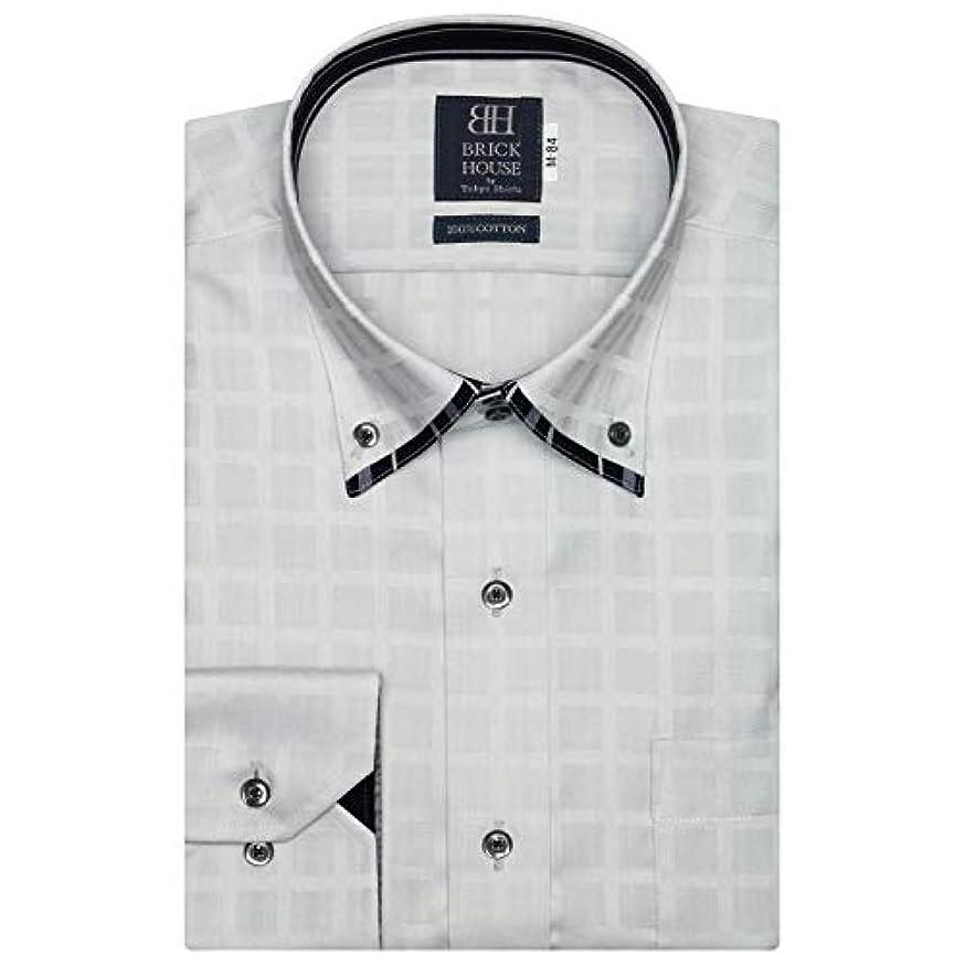 参照容量ぬいぐるみブリックハウス ワイシャツ 長袖 形態安定 マイター ボットーニ ボタンダウン 綿100% 標準体 メンズ BM018503AA12V4B-30