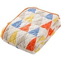 mofua(モフア)敷きパッド セミダブル フラッグ柄オレンジ 1年間品質保証 静電気防止加工 プレミアムマイクロファイバー 500102Q8