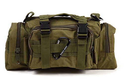 [NOBLE ARMY] 5WAY 多機能 バッグ 自転車用フロントバッグ 防水 MOLLE対応 ミリタリー サバゲー 釣り (アーミーグリーン)