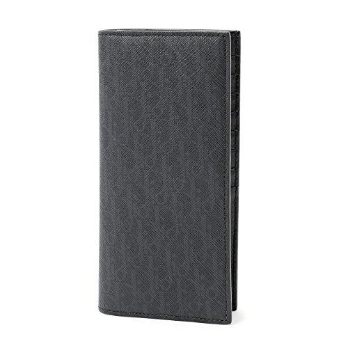 Dior Homme ディオールオム 2BLBC002 YBT 03EU モノグラムロゴ レザー 二つ折り長財布 小銭入れ付き カラーH03E/Noir-Multi [並行輸入品]