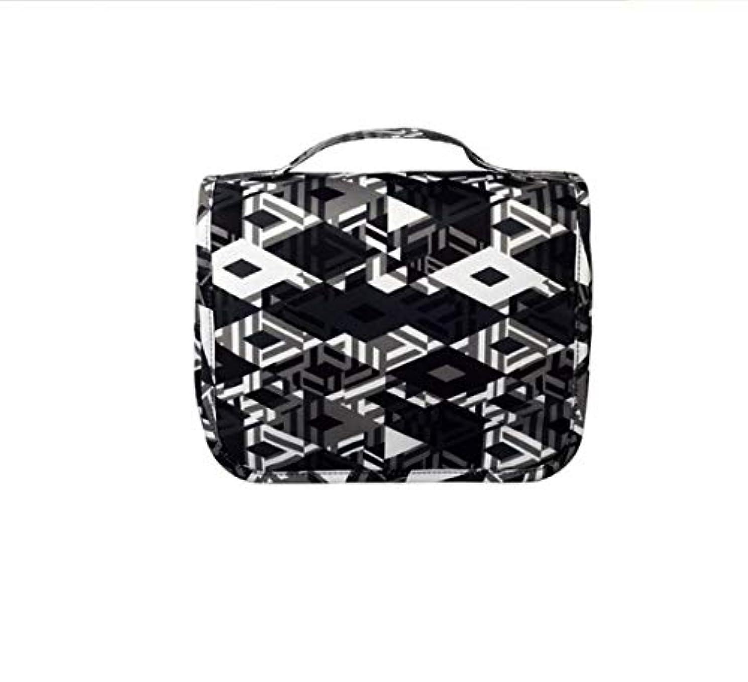 仕様閉じる困惑Chaopeng 化粧バッグ、携帯用トラベルバッグキット、迷彩収納オーガナイザー、男性用および女性用ウォッシュバッグ (Color : ブラック)