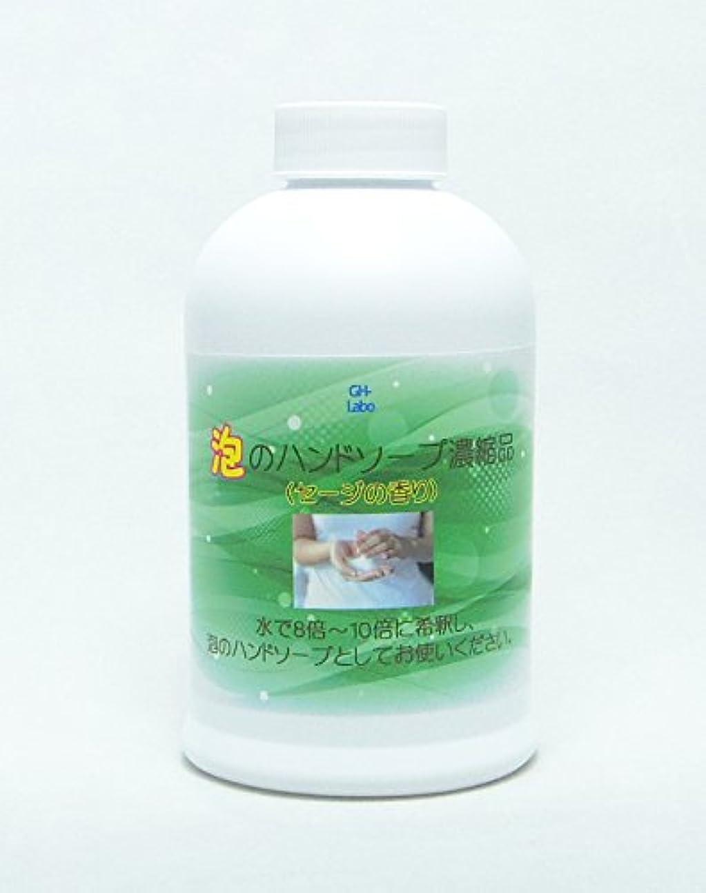 分多用途輸血GH-Labo 泡のハンドソープ濃縮品(300mLの商品10~13個分) セージの香り