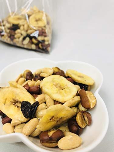 人気のドライフルーツ2種類&ナッツ3種類 業務用 ドライフルーツ&ナッツ 450g バナナチップ レーズン アーモンド ピーナッツ 花豆 日本加工 厳選ブレンド(L1)