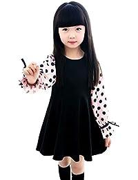 637da9a20a939 子供ドレス 女の子 ワンピース ピアノ 発表会 ガールズドレス フォーマルドレス ふんわりお袖 ...