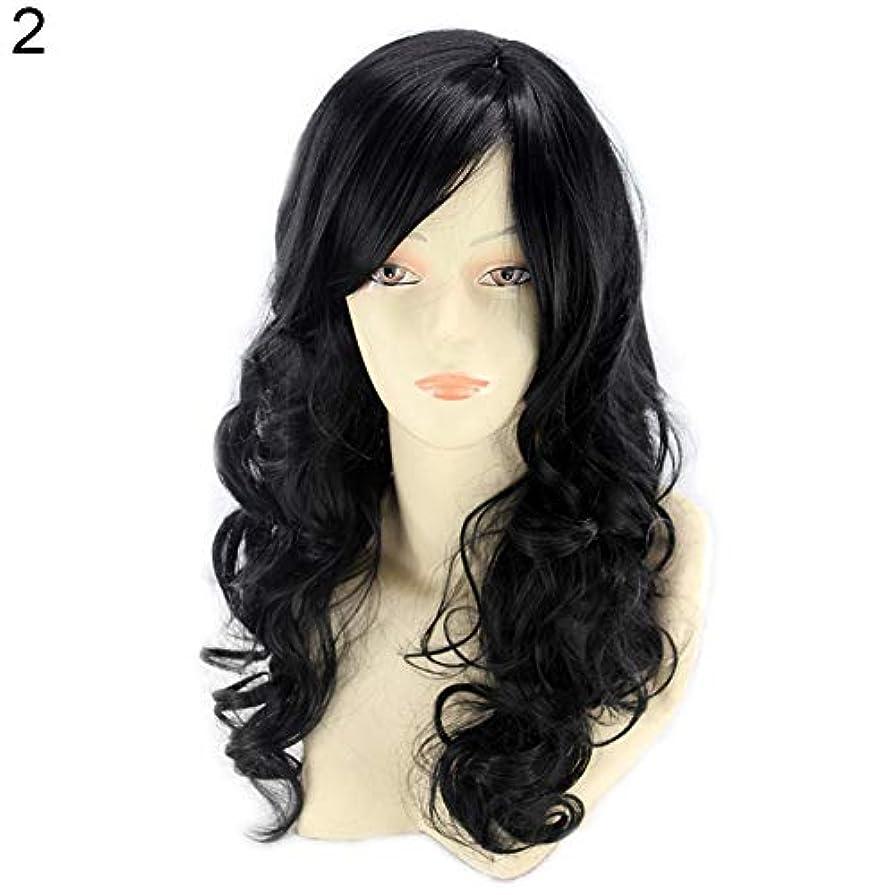 に対応するシアー夜明けにslQinjiansav女性ウィッグ修理ツール耐熱性長波状カーリーウィッグ傾斜フリンジマット合成繊維髪