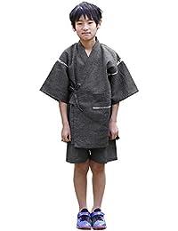[ニシキ] 甚平 男の子 綿100% 上下セット 夏祭り 花火大会 涼しい140/150/160
