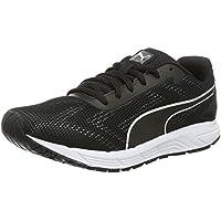 PUMA Women's Engine WNS, Black- White, Running shoes