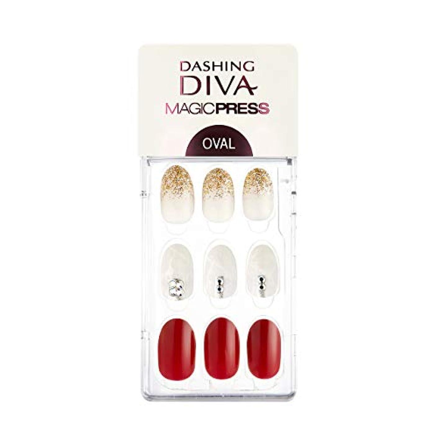 麻痺させる真向こう日曜日ダッシングディバ マジックプレス DASHING DIVA MagicPress MDR_316OV-DURY+ オリジナルジェル ネイルチップ Best Red