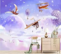 Lcymt カスタム壁紙子供の寝室の壁紙おとぎ話アドベンチャーテーマの背景壁画壁紙大熱気球壁画A-120X100Cm