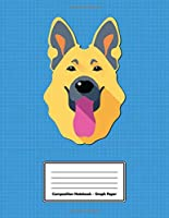 """Composition Notebook - Graph Paper: Blue German Shepherd 