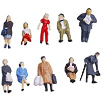 Gold Wing 24pcs HO Scale 1:87 Mix Painted Model Train People Figures