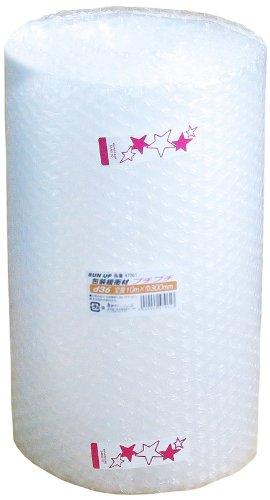 【 日本製 】 川上産業 プチプチ 緩衝材 ロール d36 巾300mm×全長10m 包装 エアキャップ 紙芯なし