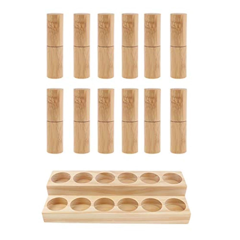 ペルメル台無しに氏収納ラック オーガナイザー 木製スタンド エッセンシャルオイル 精油 香水 展示 12個空ボトル付