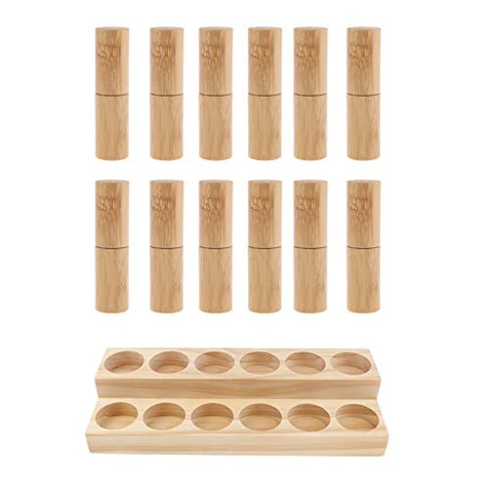 引き渡す陰謀タバコ収納ラック オーガナイザー 木製スタンド エッセンシャルオイル 精油 香水 展示 12個空ボトル付