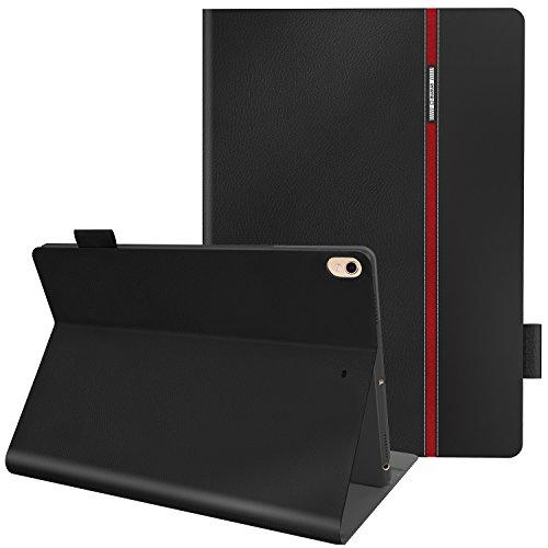 iPad Pro 10.5 ケース AUAUA iPad 10.5 カバー Apple Pencil収納 高級品質 ポリウレタン製 10.5インチタブレットケースカバー オートスリープ機能付き 防衝撃デザイン 超軽量&超薄型 スマートケース カバー スタンド機能付き 保護フィルム付属 (iPad Pro 10.5, ブラック)