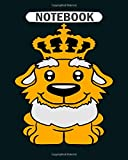 Notebook: lion tiger bear king crown king old grandpa beard  College Ruled - 50 sheets, 100 pages - 8 x 10 inches 画像