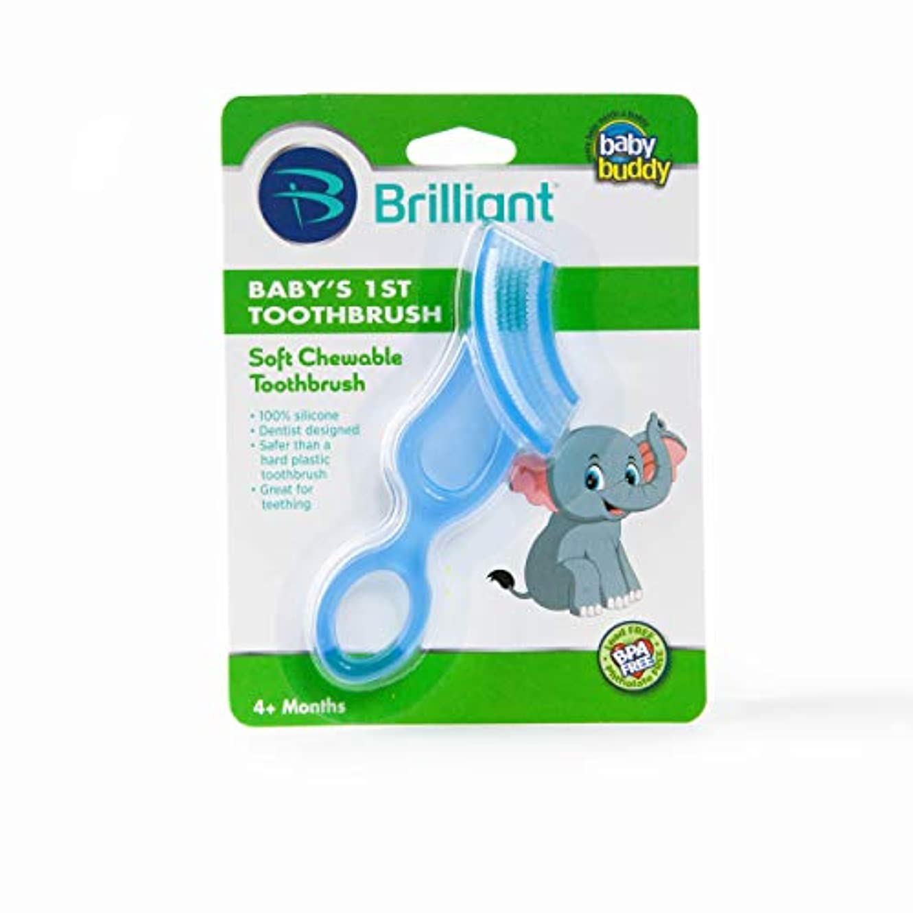 まっすぐ迫害する特殊Baby Buddy Baby's 1st Toothbrush Stage 4 for Babies/Toddlers, Kids Love Them, Blue by Baby Buddy