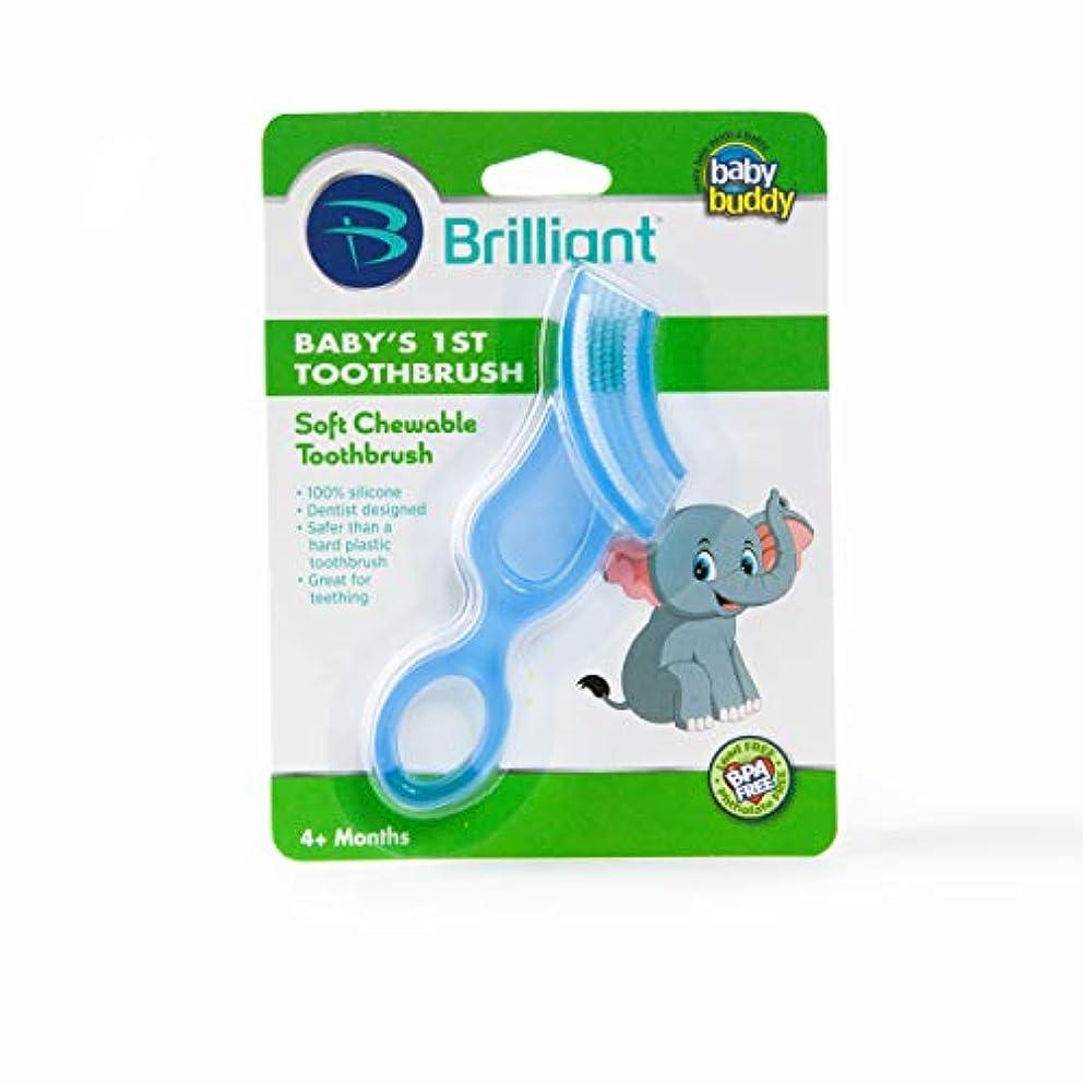 ちょうつがいシアー避難Baby Buddy Baby's 1st Toothbrush Stage 4 for Babies/Toddlers, Kids Love Them, Blue by Baby Buddy