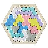 デビカ トレーニングパズル イクモクパズル 六角形 14ピース 113007