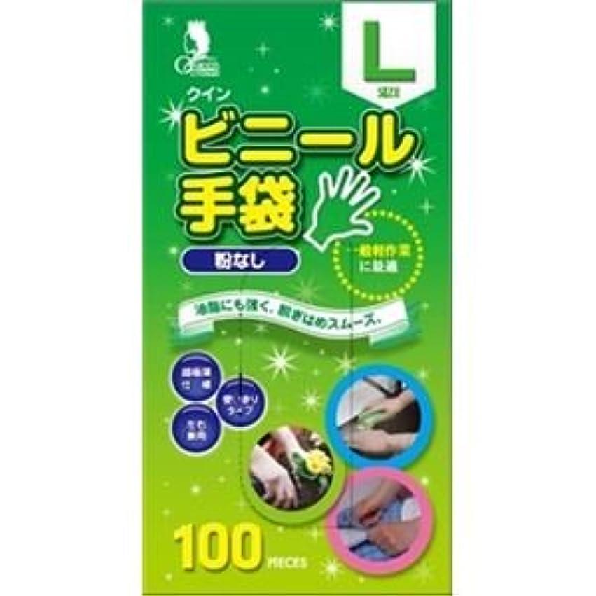 回るめったに事(まとめ)宇都宮製作 クインビニール手袋100枚入 L (N) 【×3点セット】