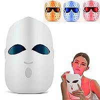 LEDライトセラピーにきびフェイスは、3色のLEDライトケアPDTフェイス肌の若返りPhotontherapymachineしわ除去アンチエイジング・フェイシャル美容機器治療装置エレクトリックホームサロン・スパマスク