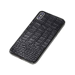 Deff(ディーフ) Leather Panel for iPhone XS/X 牛革 背面用シート iPhone XS用 iPhone X用 (ブラック)