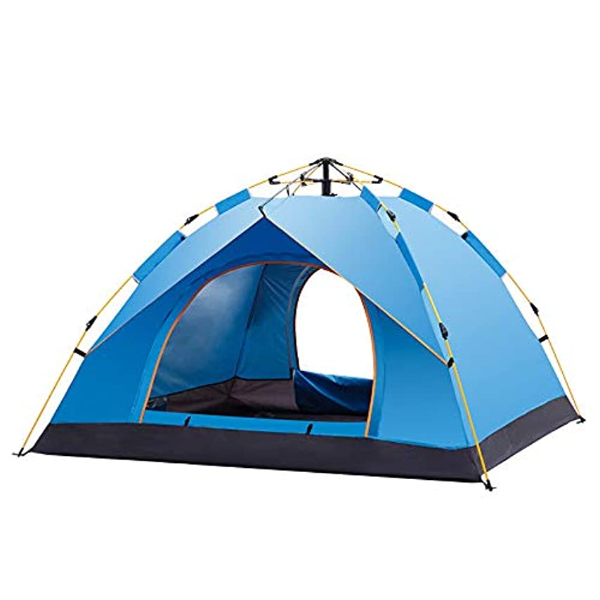 マーキングイサカスリップシューズ屋外自動スピードオープンテント、弾性キャンプテント、日焼け止め防水3-4人,A