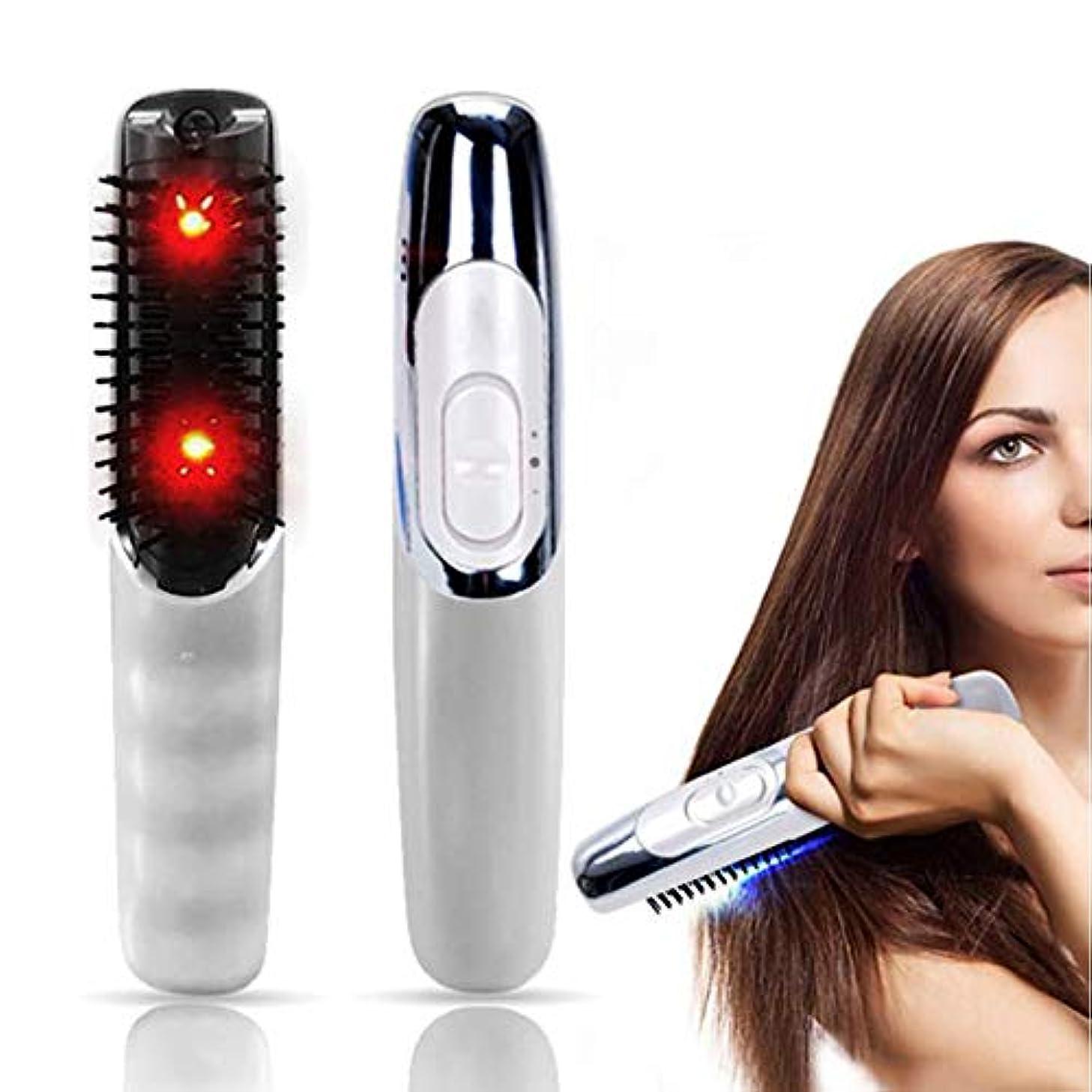 フィードオンの面では日没頭の健康マッサージ育毛を促進するための電気くし髪の帯電防止帯電防止頭皮マッサージくしブラシスタイリングツールメンズギフト