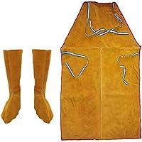 shamjina Welding Spats Welding Protective Feet Cover Men Women Orange Leather